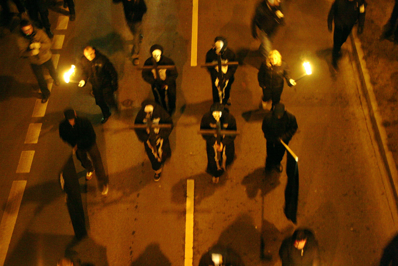Fackelmarsch der Neonazis am 13.02.09 in Dresden