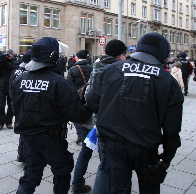 Polizeieinsatz in Dresden, 14.2.09