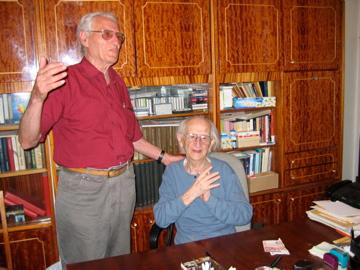 Josef Burg mit seinem Freund Boris Dorfman aus Lemberg