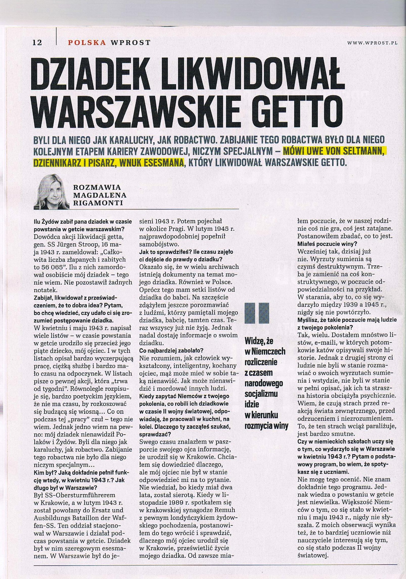 Wprost - Interview1